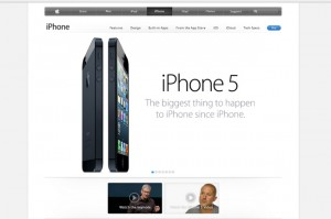 iPhone 5 web page at http://www.apple.com/iphone/ (Image credit: Apple.com