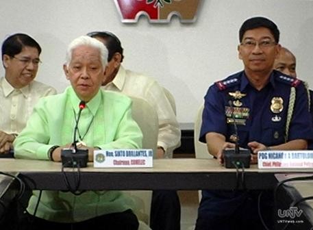 Si Comelec Chairman Sixto Brillantes Jr. at PNP Chief Nicanor Bartolome (UNTV News)