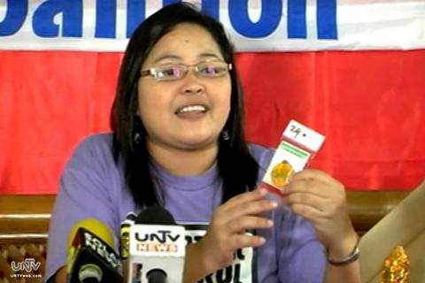 Aileen Lucero of Ecowaste Coalition (UNTV News)