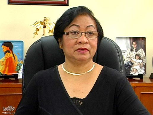 FILE PHOTO: Department of Labor and Employment Secretary Rosalinda Baldoz (UNTV News)