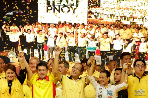 Ang proclamation rally ng Team PNoy sa Plaza Miranda nitong Martes, February 12, 2013. (PHOTOVILLE International)