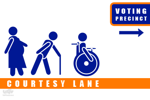 GRAPHICS: COMELEC Courtesy Lane for Elderly, Pregnant and PWD voters for 2013 Elections NOTE: Not an official graphics of COMELEC only for visual aid. (UNTV News)