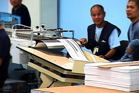 FILE PHOTO: Ballot Printing at National Printing Office (UNTV News)