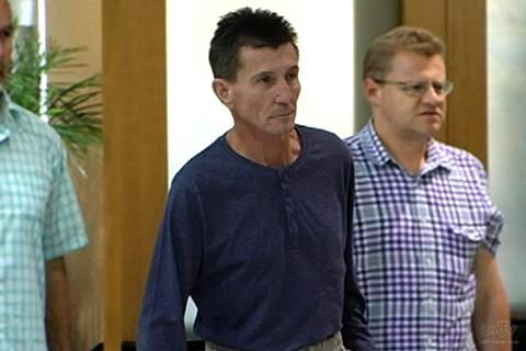 Ang Australian national na  si Warren Rodwell na naging bihag ng bandidong Abu Sayyaff sa pagpunta nito sa Department of Justice. (UNTV News)