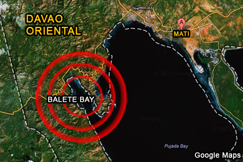 Google Maps: Balete Bay, Mati, Davao Oriental