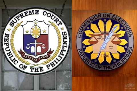 FILE: Supreme Court and COMELEC Logo (UNTV News)