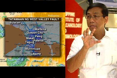 Ang West Valley Fault na ipinagpapauna nang ipinapaalam ni PHIVOLCS Director Renato Solidum na dapat paghandaan dahil ang fault na ito ay inaasahan nang gagalaw. (UNTV News)