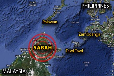 Google Map: Sabah, Malaysia