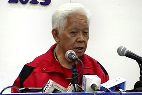 Si COMELEC Chairman Sixto Brillantes Jr. sa presscon sa PICC (UNTV News)