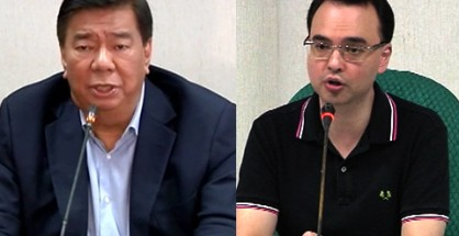 FILE PHOTOS: (L-R) Senators Franklin Drilon and Alan Peter Cayetano (UNTV News)