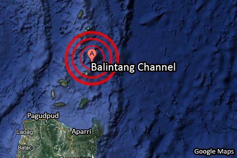 Google Maps: Balintang Channel