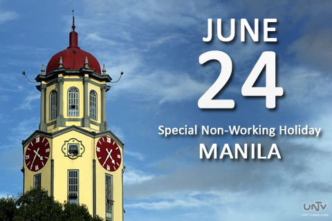 June 24 is declared by the Palace as special non-working holiday for Manila only. (WILLY SY / Photoville International)