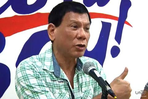 FILE PHOTO: Davao City Mayor Rodrigo Duterte (UNTV News)