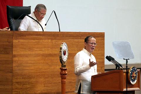 FILE PHOTO: Si Pangulong Benigno Aquino III noong SONA 2012 (Photo by: Benhur Arcayan / Malacañang Photo Bureau)