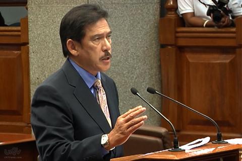 FILE PHOTO: Senator Vicente Sotto III (UNTV News)