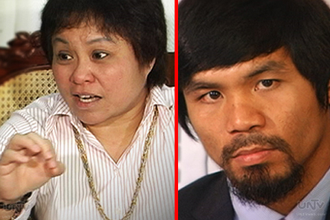 FILE PHOTO: (L-R) Bureau of Internal Revenue Commissioner Kim Jacinto Henares and World Boxing Champ Manny Pacquiao (UNTV News)