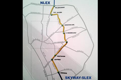 Ang kahabaan ng sasakupin ng  itatayong Metro Manila Skyway Stage 3 na siyang halos magdudugtong sa NLEX at SLEX. (NEL MARIBOJOC / UNTV News)