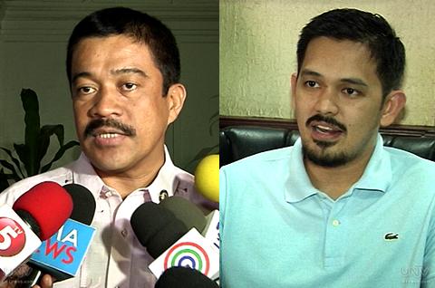 (Left-Right) Ang mga petitioners sa constitutionality ng DAP na sina ayan Muna Representative Carlos Isagani Zarate at 2013 Senatorial election candidate Greco Belgica. (UNTV News)
