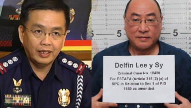 PNP Spokesman Chief Superintendent Theodore Sindac and Globe Asiatique founder Delfin Lee