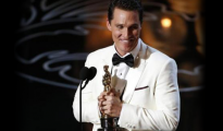 Matthew McConaughey accepts the Oscar for best actor for his role in ''Dallas Buyers Club'' at the 86th Academy Awards in Hollywood, California March 2, 2014. CREDIT: REUTERS/LUCY NICHOLSON