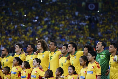 FILE PHOTO: Team Brazil (REUTERS/Kai Pfaffenbach)