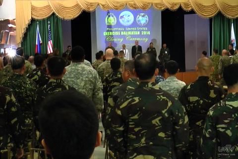 Bahagi ng closing ceremony ng PH-US Balikatan Exercises 2014 (UNTV News)