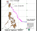 SEVERE WEATHER BULLETIN NUMBER FOURTEEN TROPICAL CYCLONE WARNING: TYPHOON #HenryPH (MATMO)  ISSUED AT 5:00 PM, 22 JULY 2014
