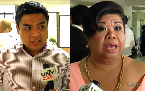 (L-R) Kabataan Partylist Rep. Terry Ridon and actress /activist Mae 'Juana Change' Paner (UNTV News)