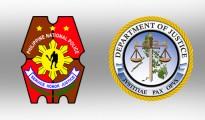 PNP and DOJ logos