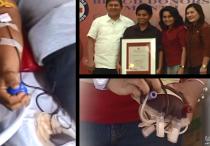 Tumanggap ng Testimonial Plaque mula sa Philippine Red Cross Central Visayas ang Members Church of God International (MCGI) dahil sa sampung taong tuloy-tuloy na pagsuporta sa kanila ng grupo (UNTV News)