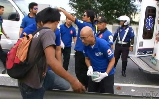Nirespondehan ng Laguna UNTV News and Rescue team ang isang vehicular accident sa Biñan, Laguna noong  Martes (UNTV News)