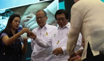 President Benigno S. Aquino III attended the launch of the Department of Health's Ligtas sa Tigdas at Polio mass immunization campaign yesterday, September 1, 2014 (CREDITS : Malacañang Photo Bureau)
