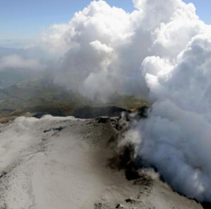 Volcanic smoke rise from Mt. Ontake, which straddles Nagano and Gifu prefectures, central Japan, September 30, 2014, in this photo taken and released by Kyodo. CREDIT: REUTERS/KYODO