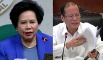 (Left-Right) Senator Miriam Defensor-Santiago and President Benigno Aquino III (UNTV News)