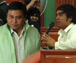 (Left-Right) Senator Jinggoy Estrada and PDAF Scam Whistleblower Benhur Luy (UNTV News)