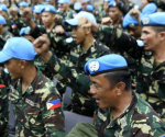 Ang pagdating ng mga Filipino UN Peacekeeping Forces nitong Linggo, September 21, 2014 sa Manila International Airport. (Photoville International)