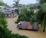 Ang lubog na pamayanan sa Banaba, San Mateo, Rizal dahil sa pag-ulang hatid ni Bagyong Mario nitong Biyernes, September 19, 2014. ( Photoville International / Mark Hirah Adalia)