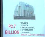 FILE PHOTO: Isang powerpoint presentation ukol sa Makati City Hall 2 Parking Building na ipinalabas sa Senado. (UNTV News)