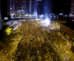 UNTV Drone Capture: Occupy Hong Kong Protest at night