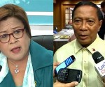 (Left-Right) Department of Justice Secretary Leila De Lima and Vice President Jejomar Binay