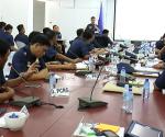 Ang mga hepe at mga tagapagsalita ng iba't-ibang sangay ng PNP sa isinagawang pagsasanay sa pagharap sa media. (UNTV News)