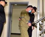 Lee Joon-seok, captain of the sunken ferry Sewol, arrives at a court in Gwangju October 27, 2014. CREDIT: REUTERS/PARK CHEOL-HONG/YONHAP