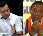 FILE PHOTO: (L-R) Sen. Antonio Trillanes IV and Vice President Jejomar Binay (UNTV News)