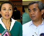 FILE PHOTO: (Left) Senator Loren Legarda, Chairperson of Senate Committees Climate Change and Environment and Natural Resources; (Right) National Disaster Risk Reduction and Management Council (NDRRMC) chairman Alexander Pama