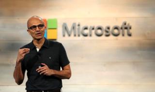 Microsoft CEO Satya Nadella speaks during a Microsoft cloud briefing event in San Francisco, California October 20, 2014. CREDIT: REUTERS/ROBERT GALBRAITH
