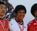 Nakuha ni Filipino BMX rider Daniel Caluag (center) ang gintong medalya sa Men's BMX Moto Race Event sa ginanap na Asian Games (UNTV News)