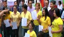 Ang ilan sa mga graduates ng BILIB I.T. ng TESDA.