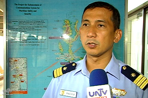 FILE PHOTO: Philippine Coast Guard Spokesperson Lt. Cmdr. Armand Balilo (UNTV News)