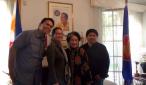 Ang pagbisita ng UNTV-Chile News Team sa kay Ambassador Maria Consuelo Puyat-Reyes sa Philippine Embassy sa Chile. (UNTV News)