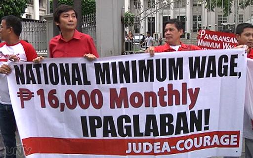 Ang grupong JUDEA-COURAGE na nagsusulong itaas ang minimum wage sa P16,000 kada buwan. (UNTV News)